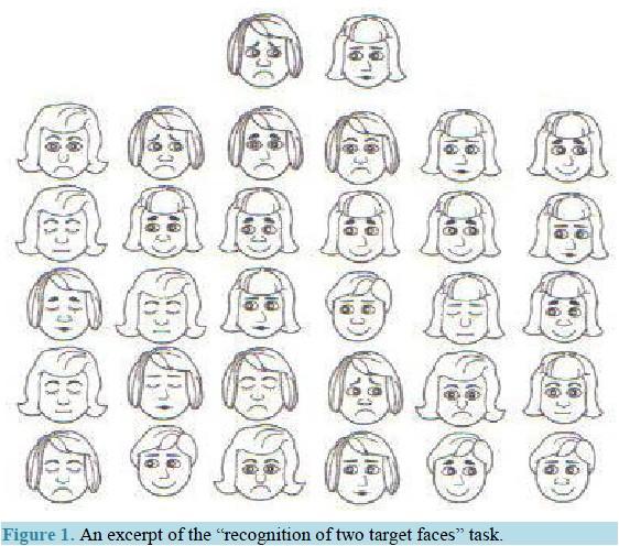 脸部抽象矢量图